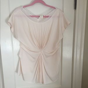 Blush Pink Pleated Top
